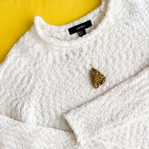 Forever 21 • White Cozy Fall Sweater